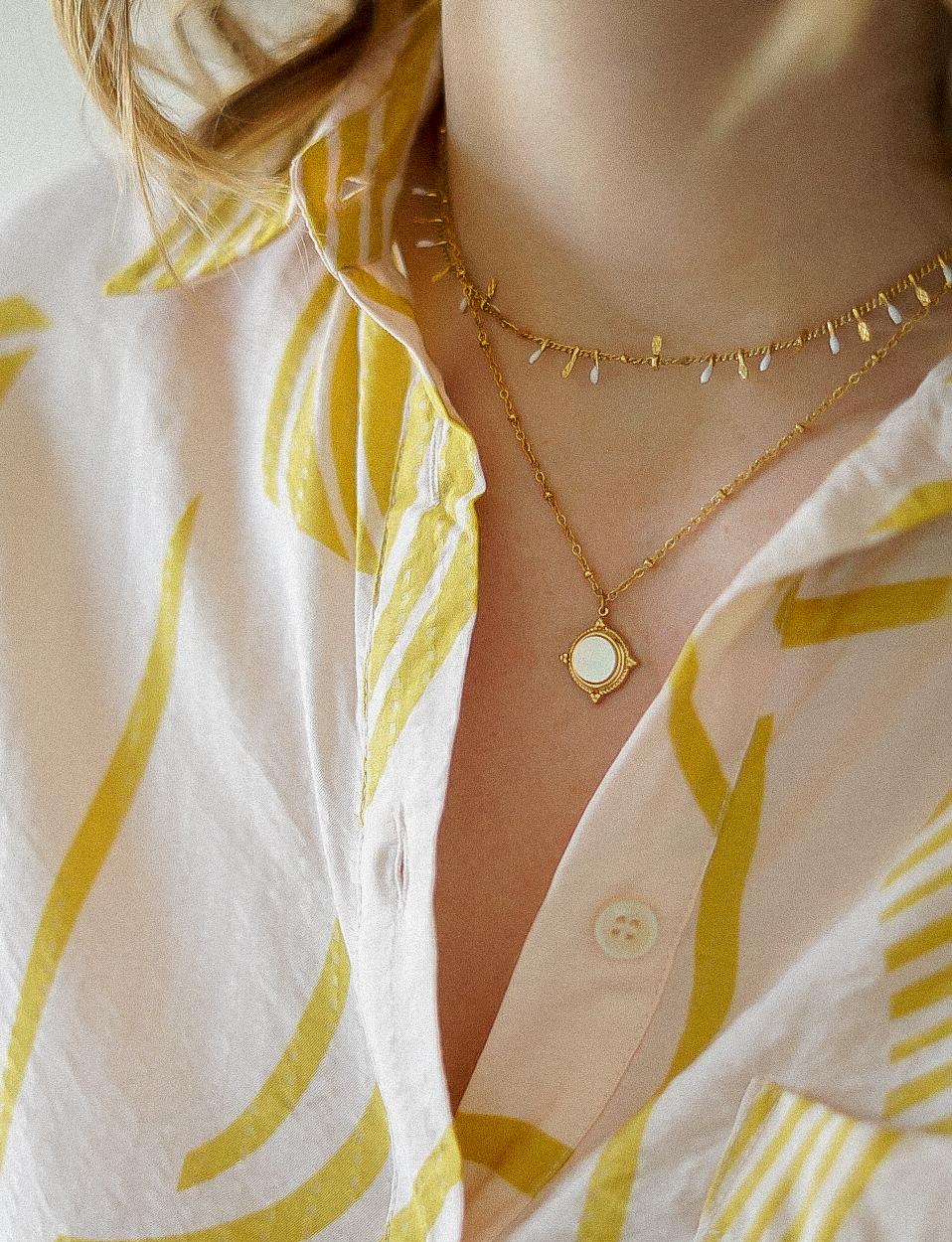 collier femme doré