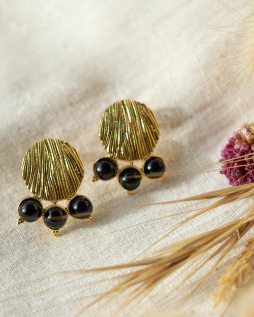 boucles d'oreilles femme dorées