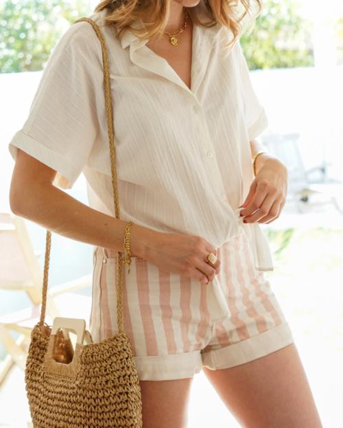 chemise manches courtes femme