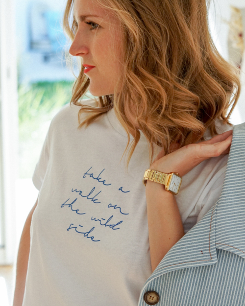 T-shirt inscription