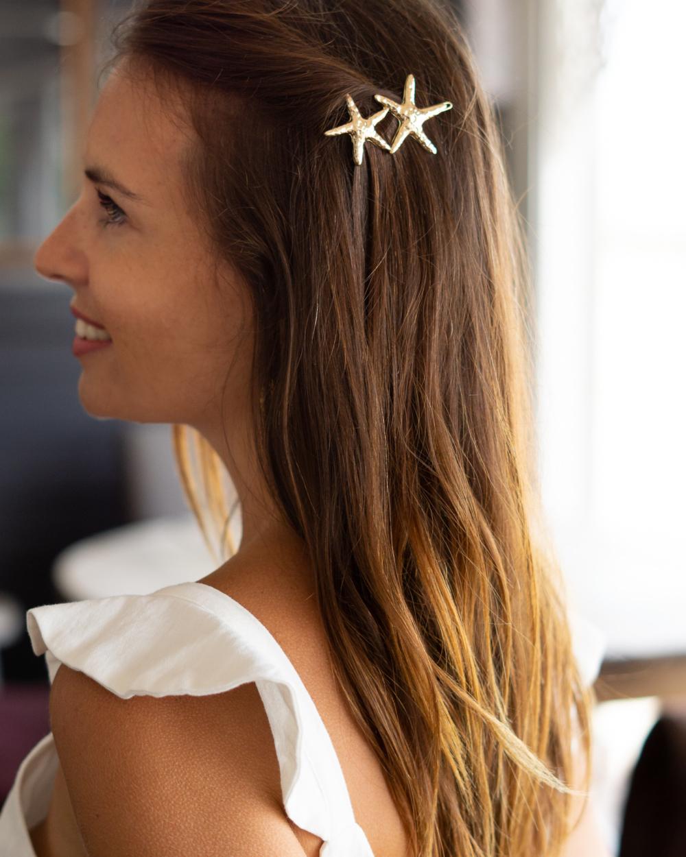 barrette cheveux dorée