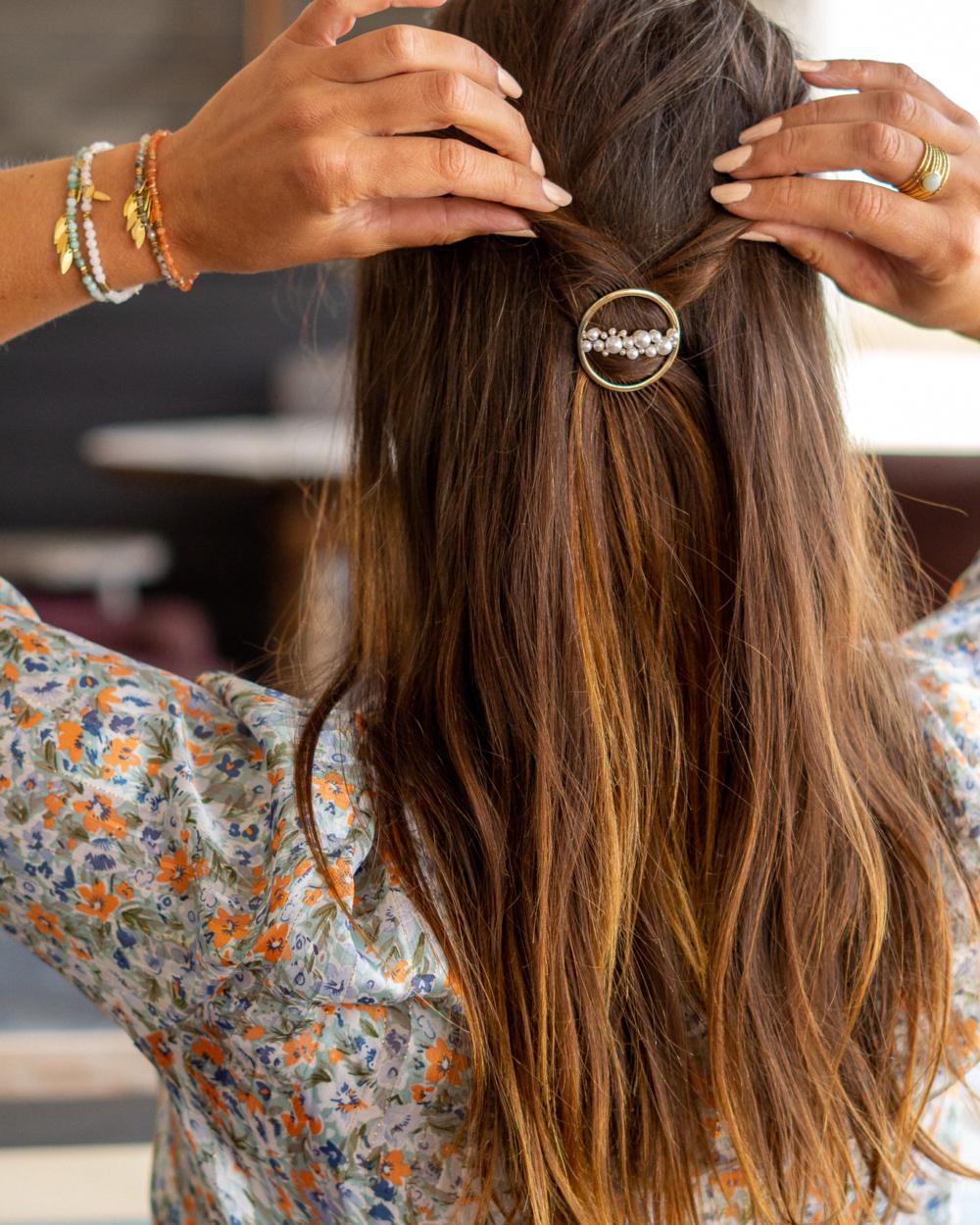 barrette cheveux ronde
