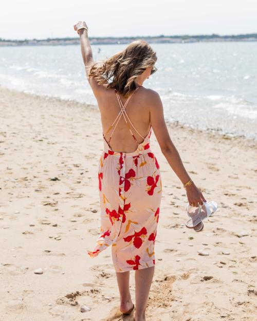 robe dos croisé