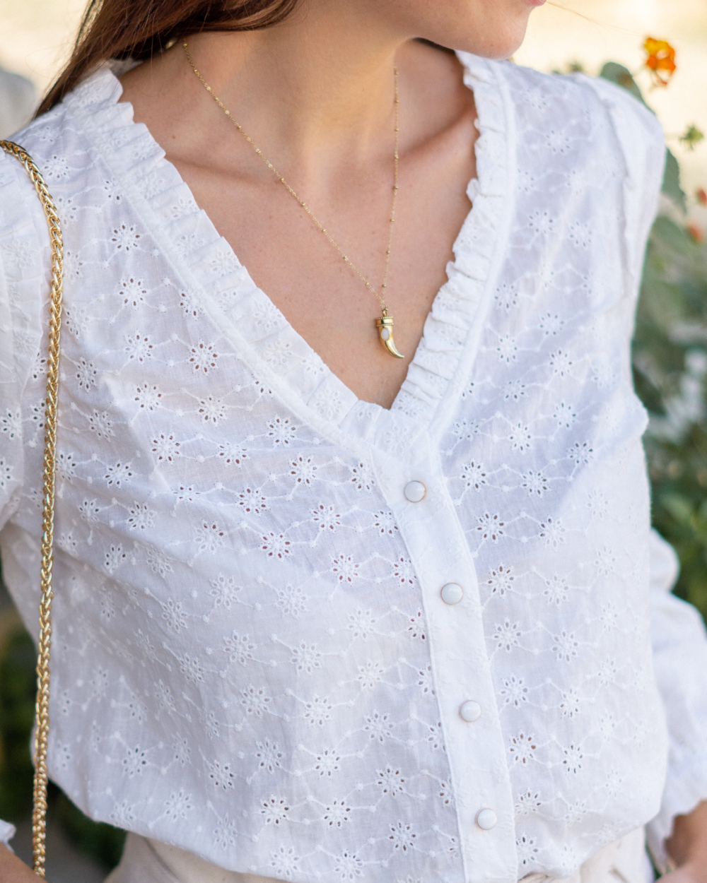 blouse blanche broderie