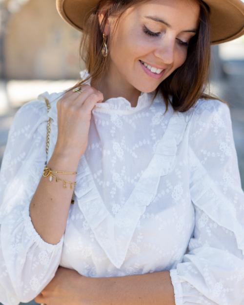 blouse blanche volants