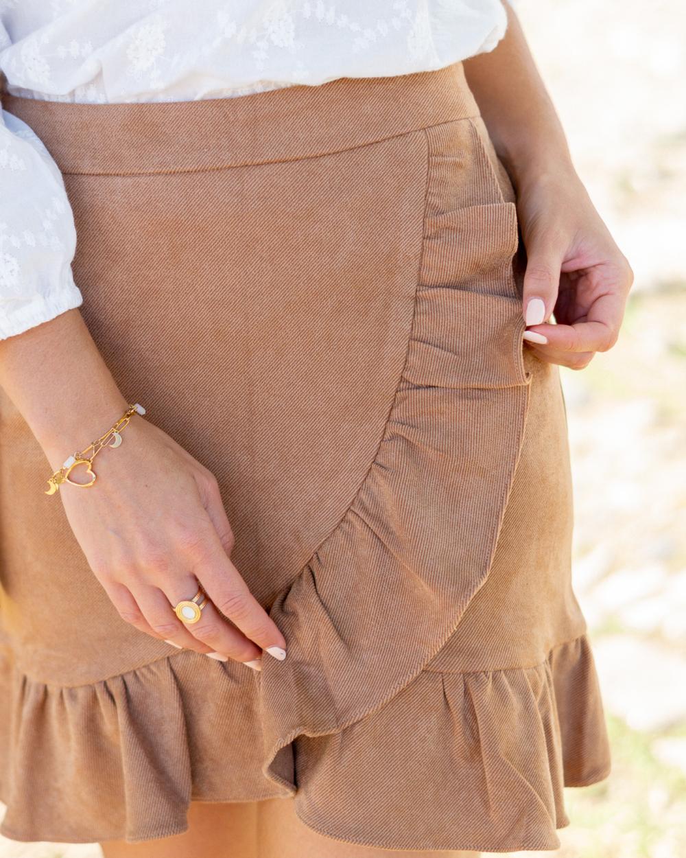 jupe courte camel