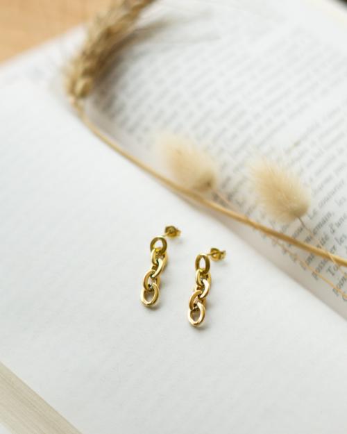 boucles d'oreilles chaine